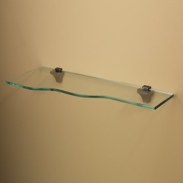 Bliss Glass Shelf - Curved Wall Shelf | Amore Designs