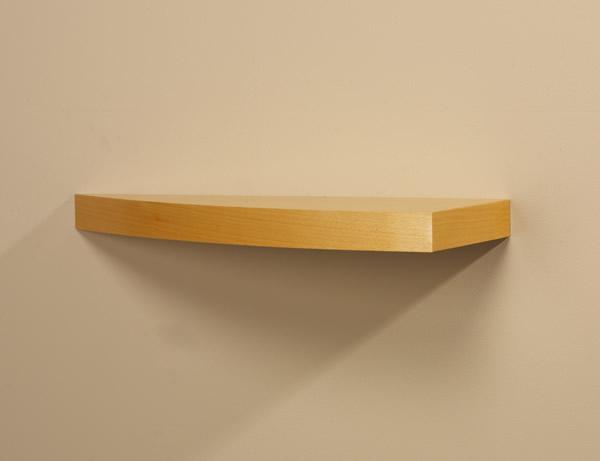 Grand 233 Curved Wood Shelf With Hidden Bracketing System