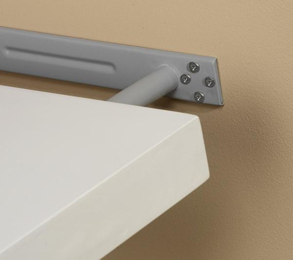 espresso grande straight shelf with hidden bracket system. Black Bedroom Furniture Sets. Home Design Ideas