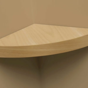 Grandé Modern Curved Wood Shelf