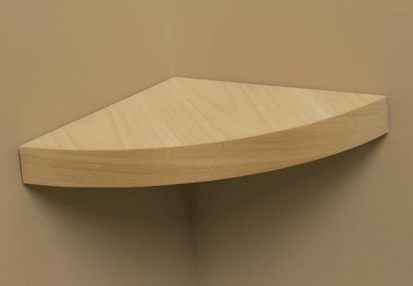 Grandé Modern Curved Wood Shelf