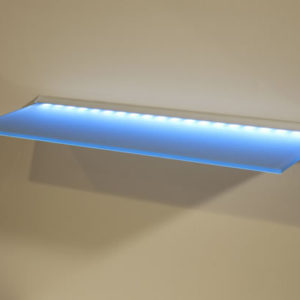 LED Lite Glass Wall Shelving