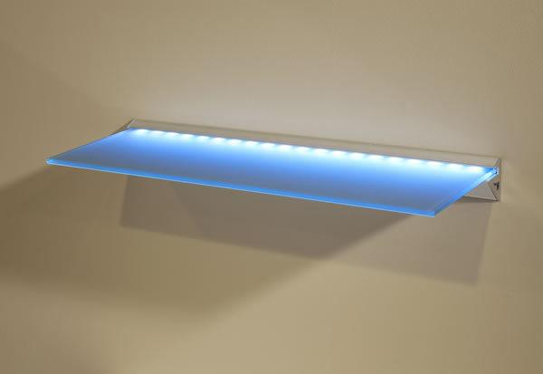 LED Lite Glass Wall Shelving