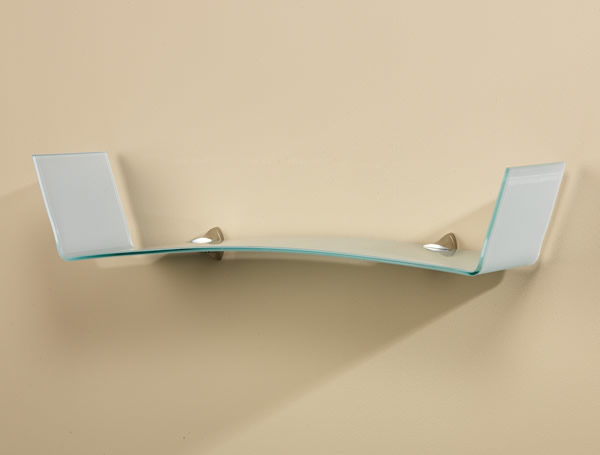 Mirage Opaque Glass Shelf with Vertical Ends