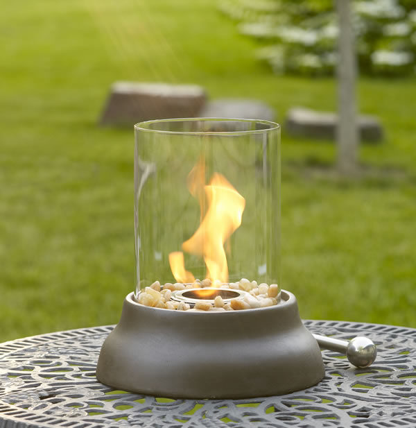 Firenze Mini Tabletop Glass Fireplace
