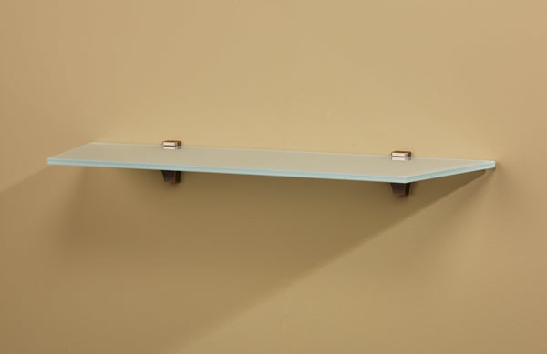 Rivera Glass Wall Shelf with Oblique Angled Corners