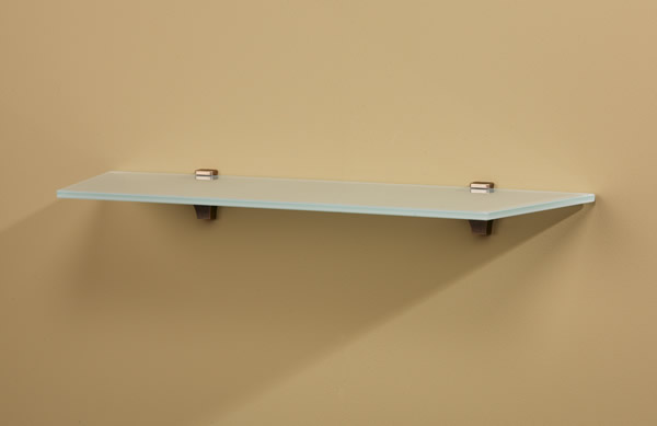 Rivera Glass Wall Shelf with Oblique Angled Corners