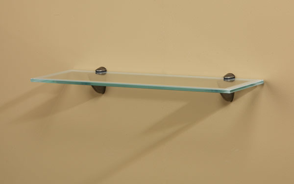 Traces Glass Wall Shelf with Bold Opaque Border