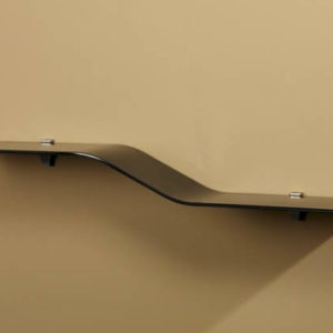 Gentle Slopping Verve Glass Wall Shelf