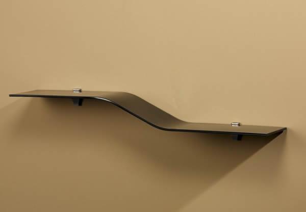 Gentle Slopping Verve Glass Wall Shelf