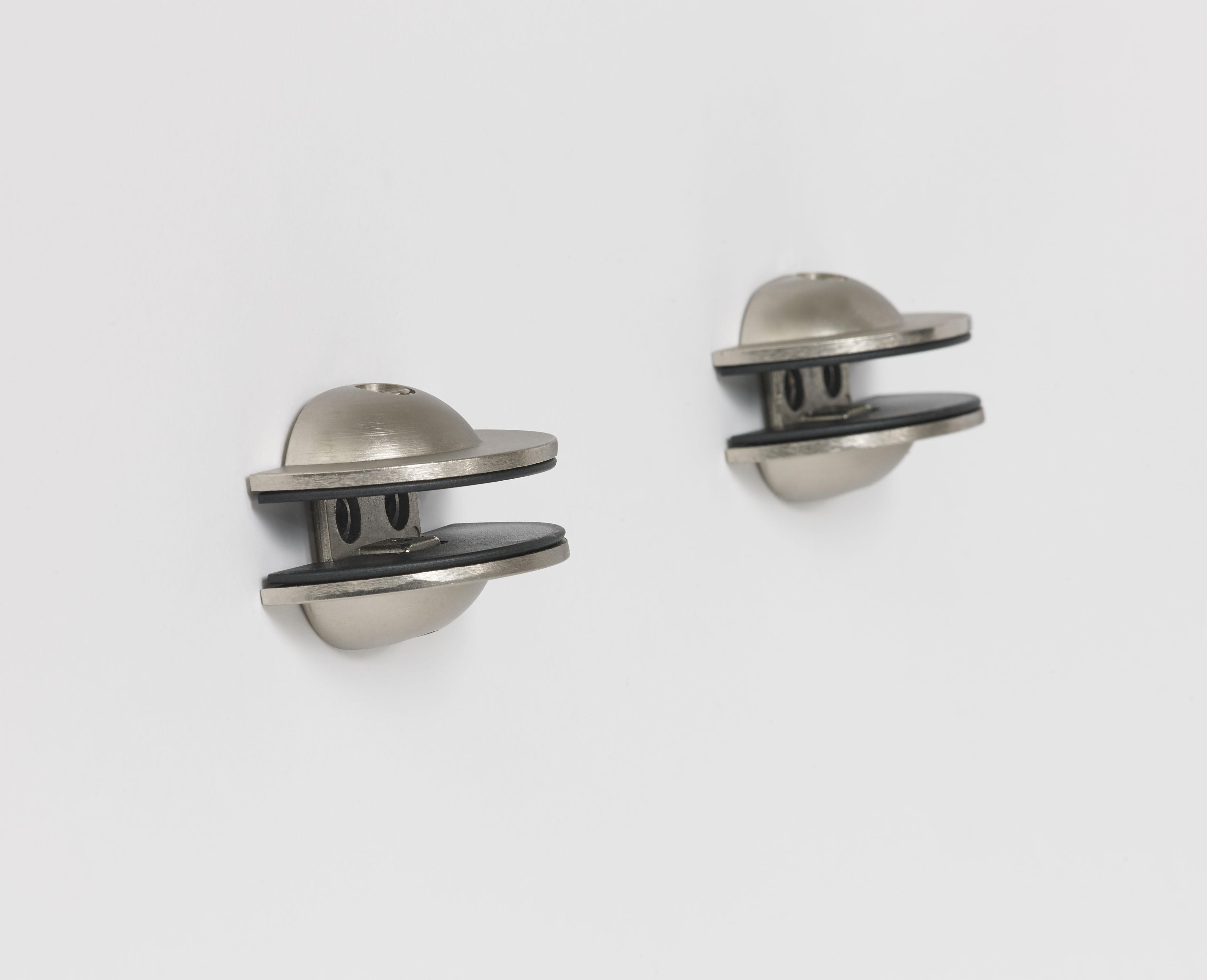 Titanium Saucer Bracket Pair Mounted Shelf Support
