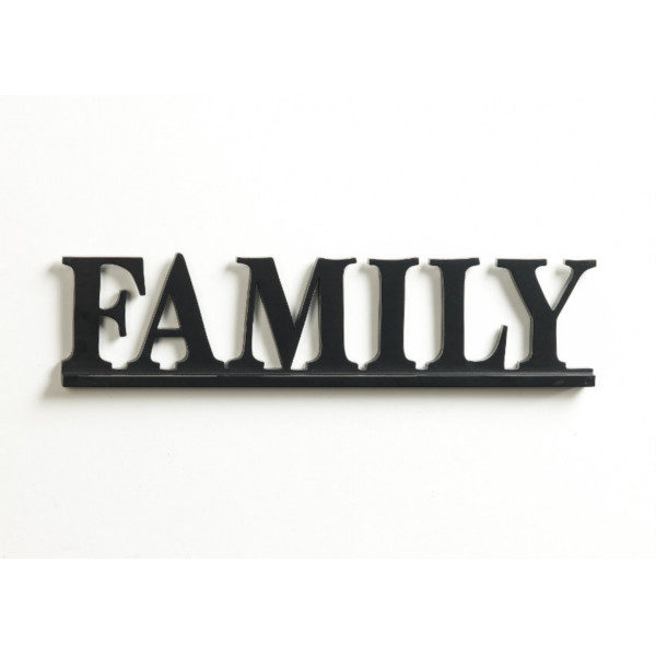 Family Wall Decor with Keyhole Bracket for Mounting