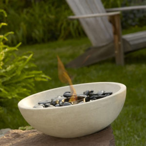 Grey Sandstone Outdoor Tabletop Firebowl